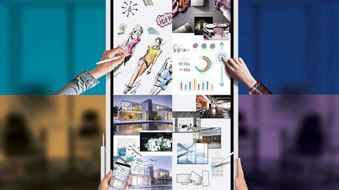 Elektronisches Whiteboard – Samsung Flip LH55WM